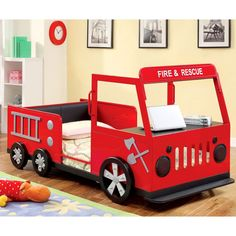 25+ Fire Truck Bed Ideas For Playful Kids Room