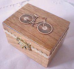 Krabičky - BICYKEL- šperkovnička - 5583402_