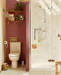 Utiliser le rose dans la déco des toilettes | My Blog Deco Downstairs Bathroom, Laundry In Bathroom, Wc Design, House Design, Le Foyer, Toilette Design, Toilet Decoration, Zen Room, Florida Home