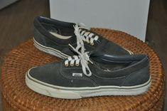 Rare Vtg Original Vans made in USA Gray suede skateboard shoes sz 10