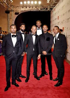 """Michael B. Jordan ,Terrence J and guests attend the Opening Night Gala of """"Room"""" during day one of the 12th annual Dubai International Film Festival held at the Madinat Jumeriah Complex on December 9, 2015 in Dubai, United Arab Emirates"""