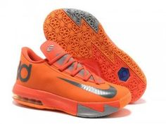 Nike Zoom KD 6 Total Orange Armory Slate Shoes in best sale. Buy cheapest total