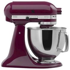 KitchenAid Artisan Stand Mixer KSM150. Finish off the outstanding look of your kitchen with the right colored accessories. If #purple is your choice, then you'll appreciate this purple Kitchen Aid Mixer. #purplekitchen #funkthishouse #affiliatelink