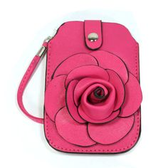$23 #72K (Summer Purse Collection)Smartphone Holder for popular handsets such as iPhone, etc.  Material: PU synthetic leather  Size: 4W x 6H, Color:  fuschia/beige/ grey/orange/black.  To order call 573-301-7960 (approximately 7 business days delivery). Major credit/debit cards and PayPal accepted!