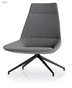 Modern Furniture // Dunas chair in steel and injected polyurethane in a grey upholstery by Sandler Seating Eames Chairs, Upholstered Chairs, Chair Cushions, Lounge Chairs, Swivel Chair, Modern Chairs, Modern Furniture, Furniture Design, Seat Cupra