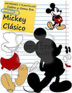 Plantillas Clasicos Disney Mickey