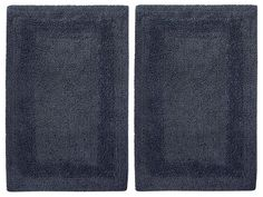Details About Set Of 2 Navy Blue Reversible Tub Shower Bathroom Rug 17 X 24 Cotton
