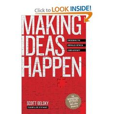 Scott has written some great books check this one out as well.Making Ideas Happen: Overcoming the Obstacles Between Vision and Reality by Scott Belsky Reading Lists, Book Lists, Books To Read, My Books, Overcoming Obstacles, Make It Happen, Things Happen, Co Working, Reading Levels