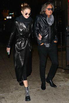 Gigi Hadid wearing 3.1 Phillip Lim Hayett Boots and Sunday Somewhere Junita Sunglasses