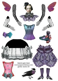 PaperWhimsy Product:Gothic Faerie 07 PNG
