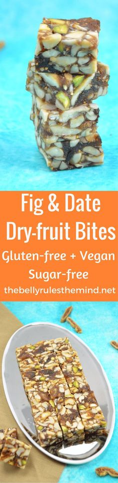 Fig & Date Dry-Fruit Bites- No refined sugar and plenty of nuts and dried fruit. Lightly sweet nutty and fruity. A little bit of everything. Gluten-Free Vegan Raw and Refined Sugar Free too. Your perfect snack.@bellyrulesdmind