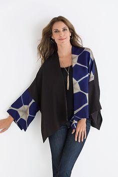 Luna Jacket by Laura Hunter: Shibori Jacket available at www.artfulhome.com