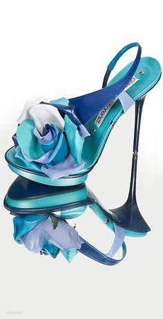 Christian Louboutin Zapato de barco turquesa