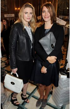 London: Brit Marling and Rebecca Hall at Mulberry