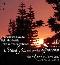 "I've wanted to fight many of MY OWN battles within the past couple of years... but I hear the voice of the LORD saying ""I'll fight your battles"" and to TRUST HIM! Thank you JESUS!"