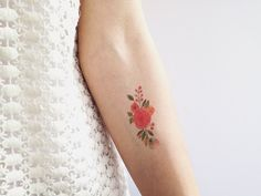 very soft edge watercolor floral wreath tattoo- needs more details but good ex.