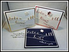 Stampin' Up! Jingle All the Way, Sleigh Ride Edgelits, Gold Foil, Red Foil, Dazzling Diamonds glitter, Softly Falling TIEF, Pillow Box thinlets die set, white embossing powder, Dazzling Diamonds Glimmer paper,