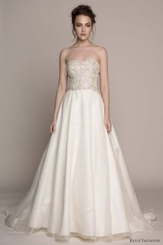 Beautiful new wedding dresses from Kelly Faetanini Strapless, Lace Wedding Gown…