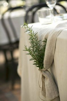 wedding decor - end of table runner