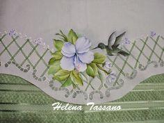 Helena Tassano Artesanato, Pintura em Tecido, Aulas de Pintura, Pintura sobre Tela: panos de pratos pintados a mão
