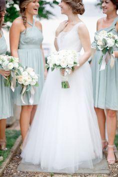 duck egg blue bridal dresses. From Snippet & Ink wedding inspiration website.