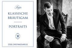 KLASSISCHE BRÄUTIGAM PORTRAITS | EINFACH UND SCHNELL #Christina_Eduard_Photography #Portrait #Bräutigam #Hochzeit #Schwarz_Weiß_Fotos #Klassische_Porträts