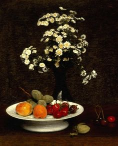 "realism-love: ""Still Life With Flowers via Henri Fantin-Latour Medium: oil, canvas"" Henri Fantin Latour, Painting Still Life, Still Life Art, Francoise Gilot, Summer Family Photos, Still Life Flowers, Art Google, Art Images, Flower Art"