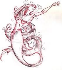 mermaid tattoo design - maybe if she didn't look so anorexic