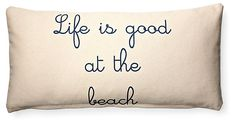 One Kings Lane - The Summer House - At the Beach  10x20 Pillow, Cream