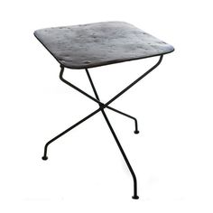 French Cafe Collapsible Iron Table | From a unique collection of antique and modern garden furniture at https://www.1stdibs.com/furniture/building-garden/garden-furniture/