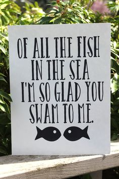 All the Fish in the Sea Printable Couples Wall Art, INSTANT DOWNLOAD, Wedding, anniversary, love, bedroom signage, Typography Inspirational