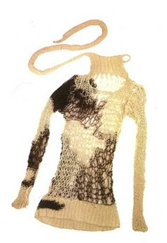 Totally unique!   Sweater by Vivienne Westwood and Malcolm Maclaren (1977).