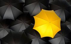 Sombrilla amarilla - Fondo de Pantalla