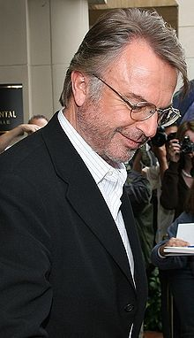The great Sam Neill.  Tomorrow (9/14) is his birthday!  Just love this picture of him.