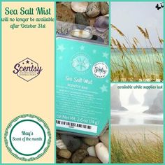 May's Scent of the Month, Sea Salt Mist, won't be available after October 31st! Get yours before it's gone. https://yvonnesanya.scentsy.us