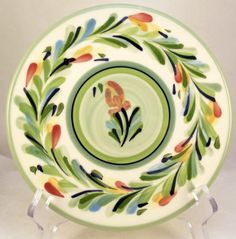 Gail Pittman Provence Garland ceramic round trivet hot plate - Other