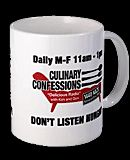 We drink our morning coffee from this mug every day.  It reminds us of our Culinary Confession Family.