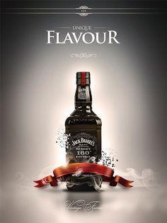 Jack Daniel's kind of poster by Karol Socha, via Behance:
