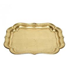 PLASTIC PLATE IN ANTIQUE GOLD COLOR 51X41X4