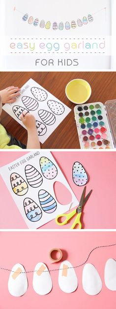 Printable, coloring eggs are included