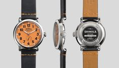 THE RUNWELL 41mm Black Leather Watch | Shinola® Inspired by Henry Ford's approach to color, only orange-er. The Runwell, the first Shinola watch series ever made in Detroit, engineered with an obsessive focus on crafting a watch of the highest possible quality.