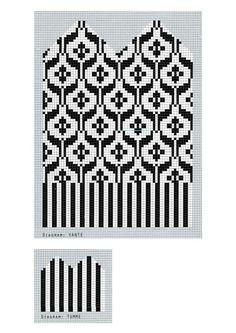 Knitted Mittens Pattern, Fair Isle Knitting Patterns, Knitting Machine Patterns, Knitting Charts, Knit Mittens, Knitted Gloves, Knitting Socks, Loom Beading, Beading Patterns