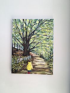 Stroll in the woods Irish Art, Woods, Park, Painting, Forests, Painting Art, Parks, Paint, Draw