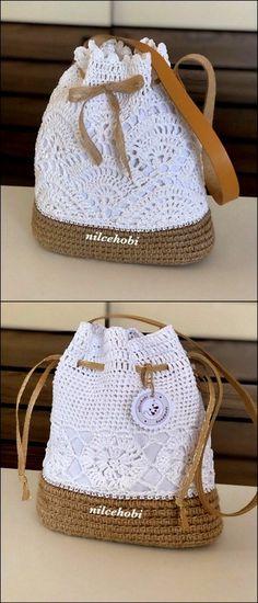 Stylish Strap bag Free Crochet Pattern – Crochet market bag free pattern – Agli – The Best Ideas Crochet Socks, Free Crochet, Knit Crochet, Crochet Bag Free Pattern, Crochet Handbags, Crochet Purses, Knitting Patterns, Crochet Patterns, Bag Patterns