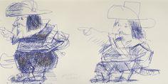 VERITAS | Art Auctioneers | Portugal : Leilão 53 - Júlio Pomar - Dois personagens