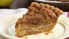 A crumbly brown sugar streusel tops a classic apple pie made easy in a frozen pie crust.