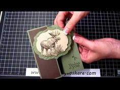 Walk in the Wild with Lovely as a Tree on a Z-Fold Card - How To Video, Kay Kalthoff is Stamping to Share with Stampin' Up!, Manly, Masculine, Outdoorsman, Nature Lover, Moose