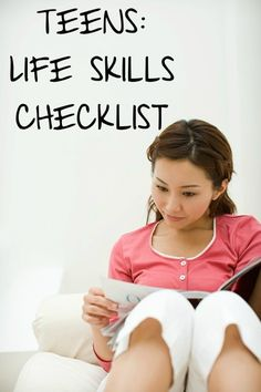 Life skills checklist for teens. Very important for special needs teenagers.