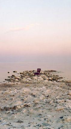 Pink Chair, Salton Sea Beach, 2013