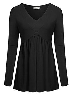 Shop a great selection of Ouncuty Women Fall Long Sleeve V Neck Aline Tunic Shirt Casual Empired Waist Top. Find new offer and Similar products for Ouncuty Women Fall Long Sleeve V Neck Aline Tunic Shirt Casual Empired Waist Top. Casual Tops, Casual Shirts, Tunic Shirt, Tunic Tops, Older Women Fashion, Mode Hijab, Mode Style, Women's Fashion Dresses, Look Fashion
